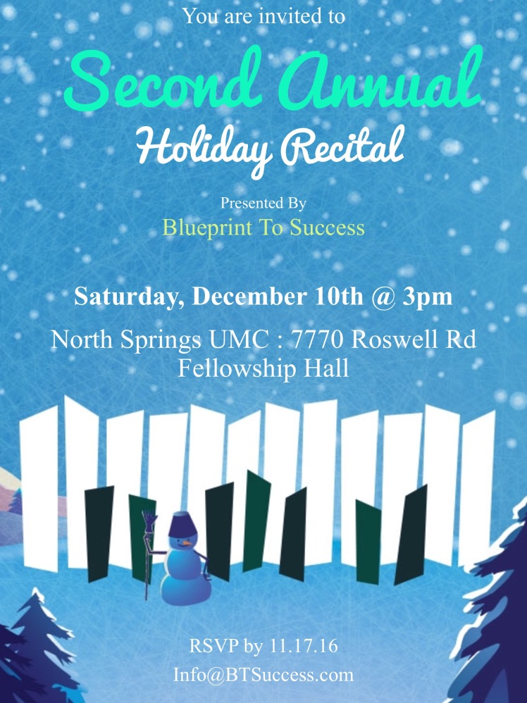 BTS 2016 Holiday Recital Invite